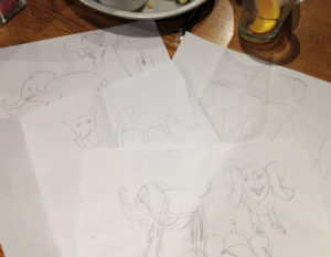 sketches of elephants