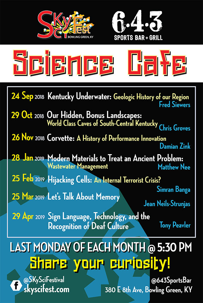 2018-19 schedule, Bowling Green's Science Cafe